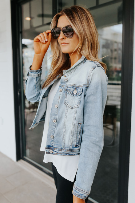 Sweet South Faded Denim Jacket - Light Wash