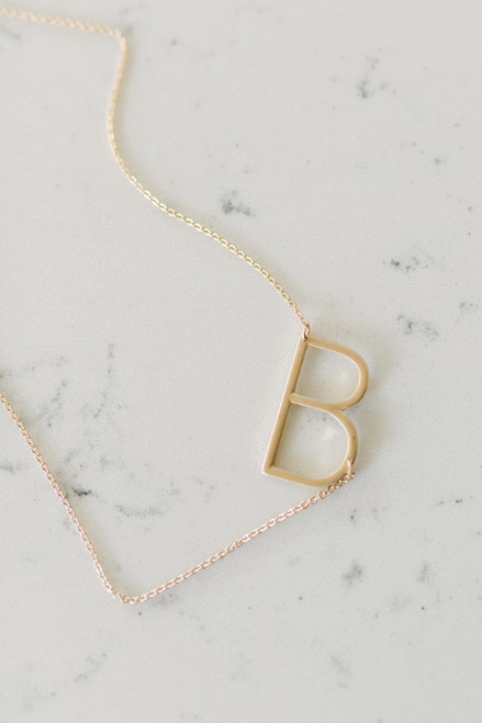 Say My Name Initial Necklace - Gold - FINAL SALE
