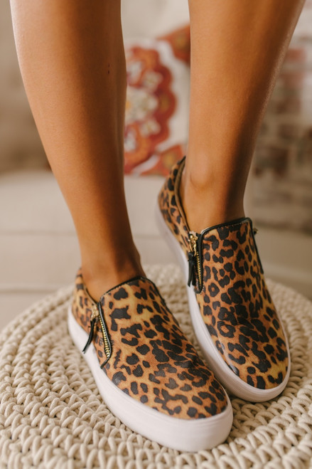 Not Rated Tim Leopard Slip On Sneakers - Brown Multi