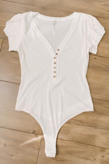 Free People Mia Bodysuit - White