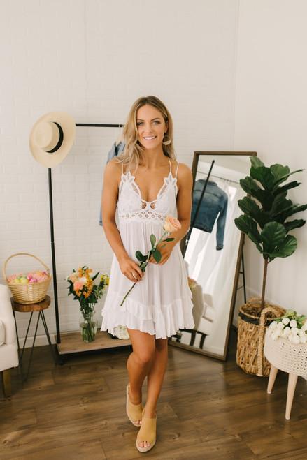 Free People Adella Slip Dress - White