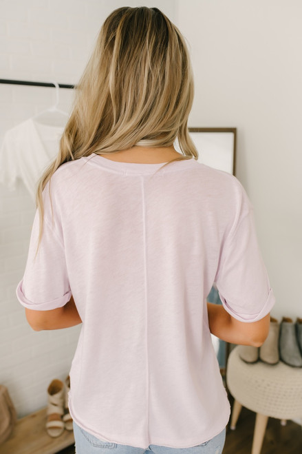 Free People Cassidy Tee - Lilac