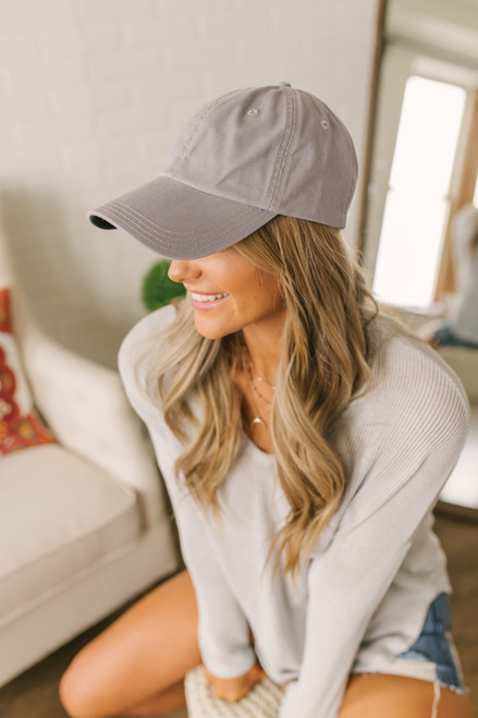 Covering My Bases Baseball Hat - Cool Grey