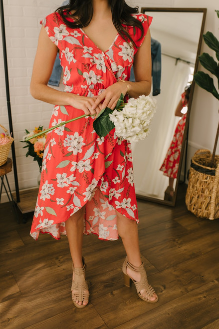 Jack by BB Dakota Gild The Lily Dress - Poppy Red - FINAL SALE