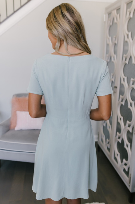 Everly Sealed with a Twist Dress - Mint