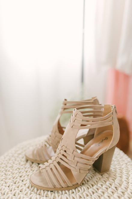 6cd660df7ac Cadence Strappy High Heeled Sandals - Taupe