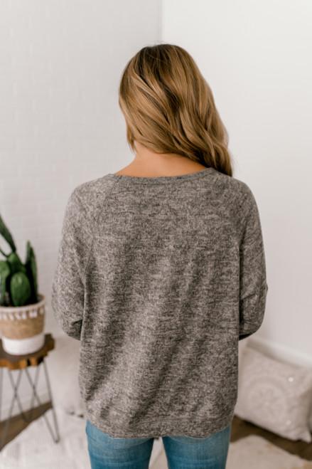 Soft Fleece Pullover - Heather Oatmeal - FINAL SALE