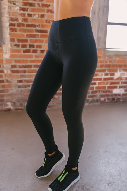 High Waist Essential Leggings - Black - FINAL SALE