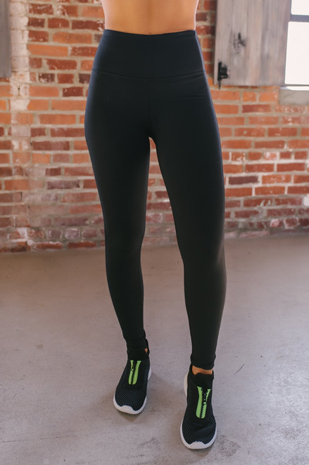High Waist Essential Leggings - Black