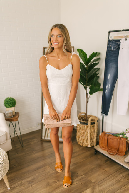 Fresh Market Floral Eyelet Dress - White