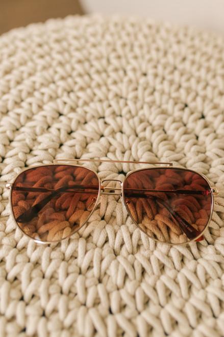 Maxwell Aviators Sunglasses - Gold