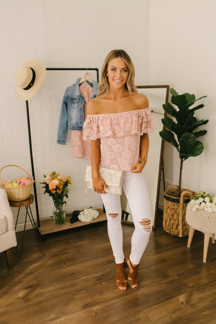 Jack by BB Dakota Shoulder Action Top - Misty Rose - FINAL SALE