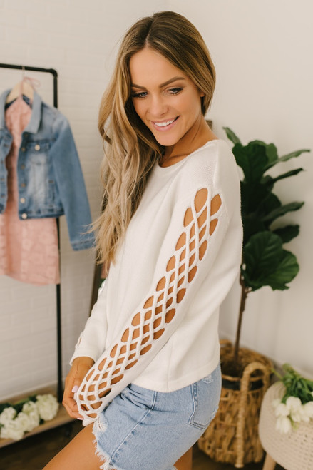 Jack by BB Dakota The Snuggle is Real Top - Off White - FINAL SALE