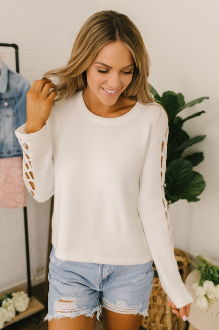 Jack by BB Dakota The Snuggle is Real Top - Off White