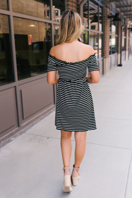 Jack by BB Dakota Knit's Always Sunny Dress - Black - FINAL SALE