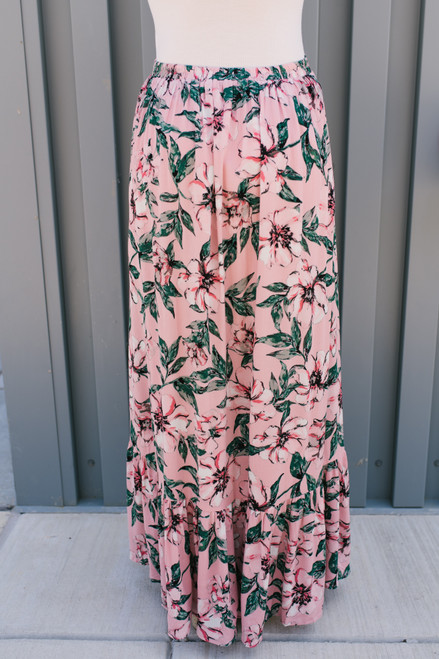 Jack by BB Dakota Haole Maxi Skirt - Rose Dawn - FINAL SALE