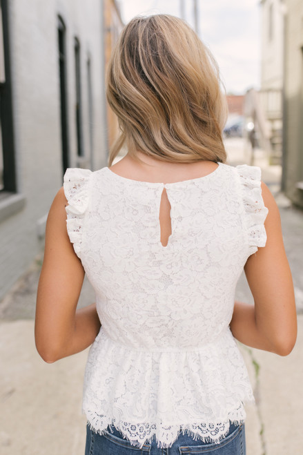 BB Dakota At First Sight Lace Top - Ivory - FINAL SALE