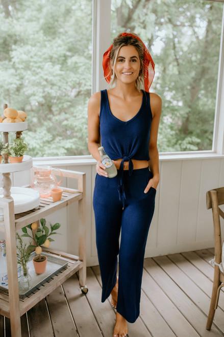 BB Dakota Morning Mood Pants - Vintage Blue