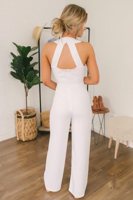 BB Dakota Just One Look Jumpsuit - Optic White - FINAL SALE