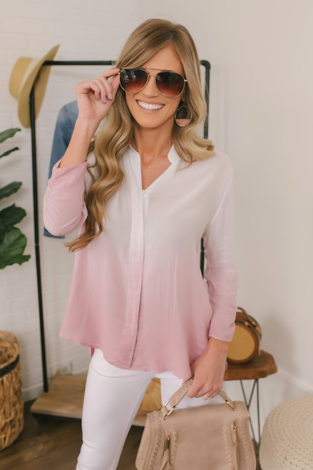 BB Dakota Fade Into You Ombre Top - Pink Blossom - FINAL SALE
