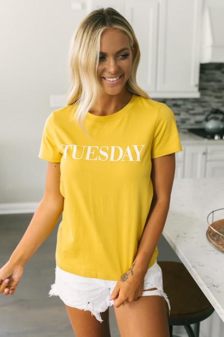 BB Dakota Day Dreaming Tuesday Tee - Saffron Yellow
