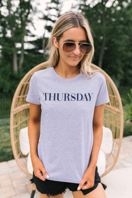 BB Dakota Day Dreaming Thursday Tee - Heather Grey