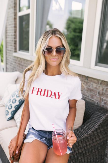 BB Dakota Day Dreaming Friday Tee - Optic White