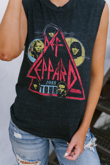 Daydreamer Def Leppard Tour of 88 Tee - Charcoal