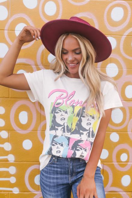 Daydreamer Blondie Pop Poster Tour Tee - White