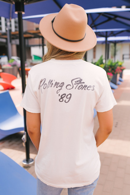 Daydreamer Rolling Stones '89 Tee - White - FINAL SALE
