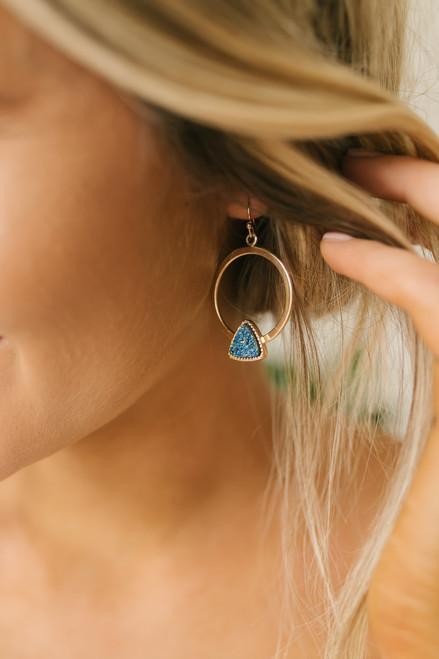 Alyn Vaughn Ana Earrings - Princess Blue/Gold