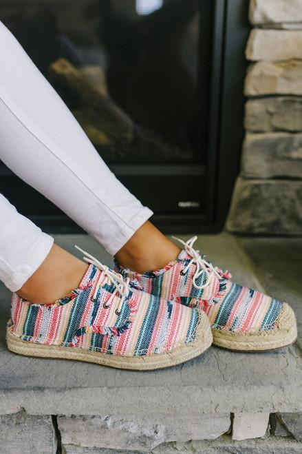 Rocket Dog Etty Stripe Beach Sneakers - Rainbow