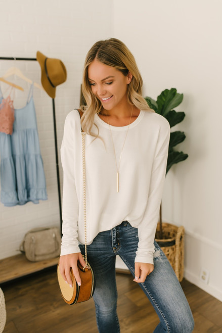 Coffee Break Soft Knit Pullover - Ivory