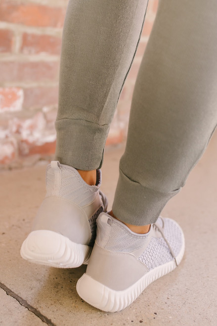 Dirty Laundry Harlen Knit Sneakers - Grey