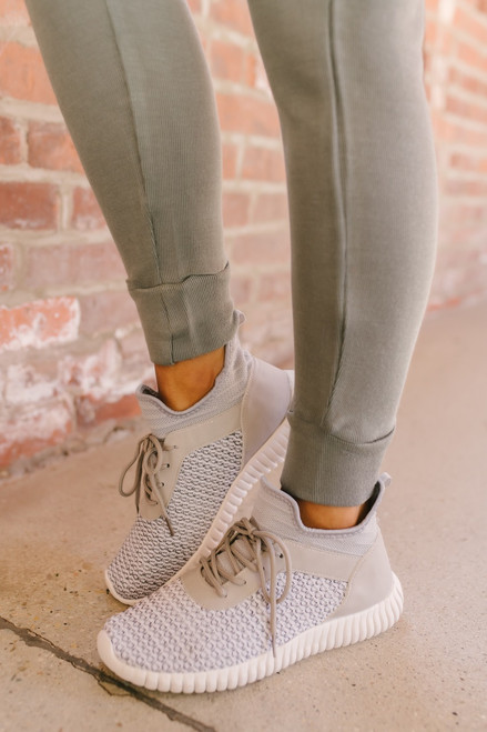 Dirty Laundry Harlen Knit Sneakers - Grey - FINAL SALE