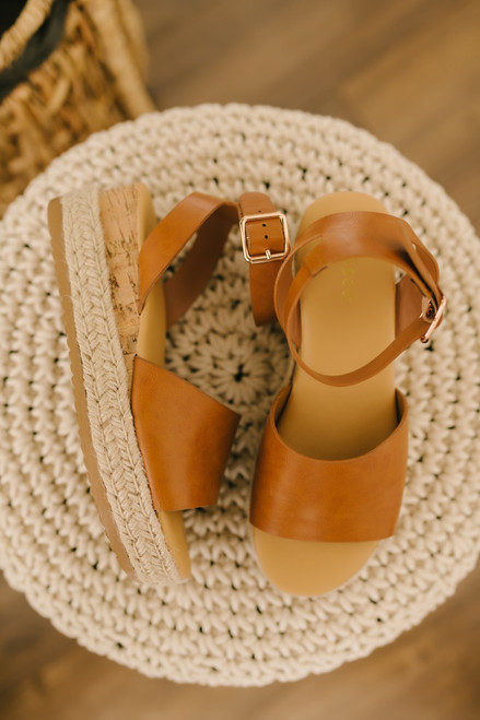 Hampton Bay Espadrille Platform Sandals - Tan