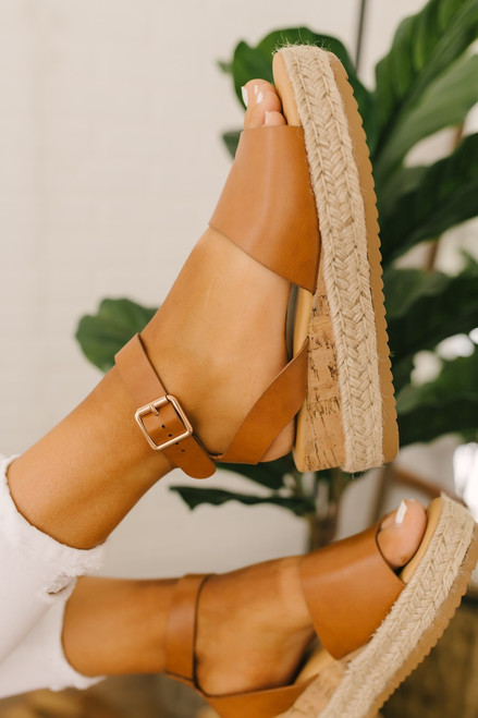Hampton Bay Espadrille Platform Sandals - Tan