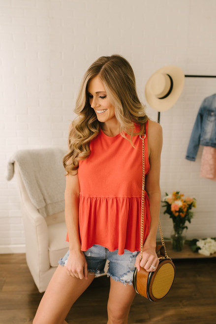 Free People Anytime Tank - Vermillion Red - FINAL SALE