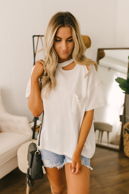 Free People Lucky Tee - Ivory - FINAL SALE