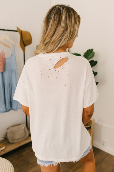 Free People Lucky Tee - Ivory