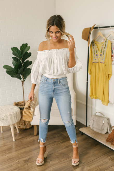 Free People Dancing Till Dawn Top - White - FINAL SALE