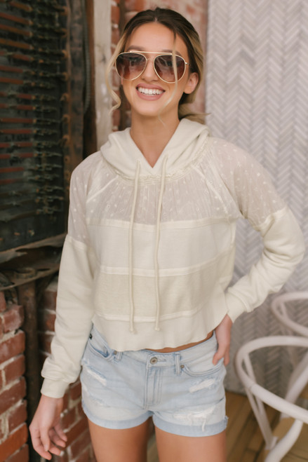 Free People Piper Pullover - Ivory