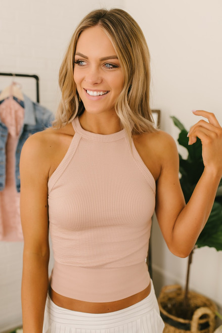 Free People Wide Rib Seamless Cami - Pink