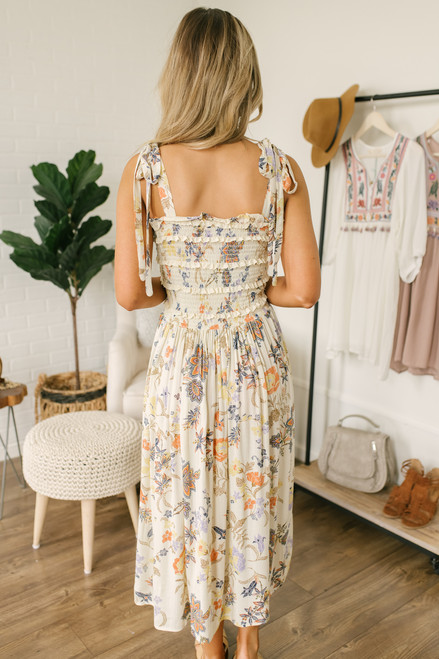 Free People Isla Midi Dress - Ivory - FINAL SALE