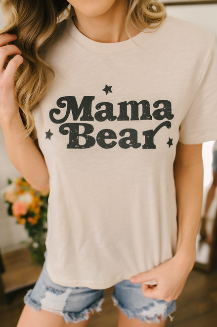Mama Bear Graphic Tee - Clay - FINAL SALE