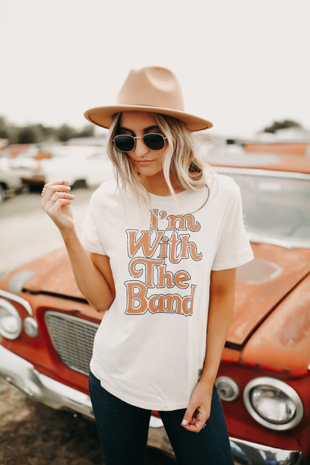 I'm with the Band Tee - Clay Multi  - FINAL SALE