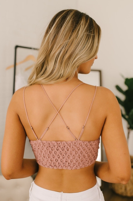 Free People Adella Bralette - Rose