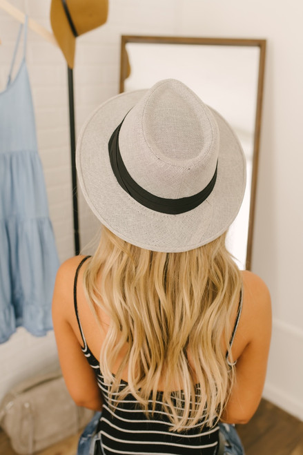 Sea Breeze Panama Hat - Grey - FINAL SALE