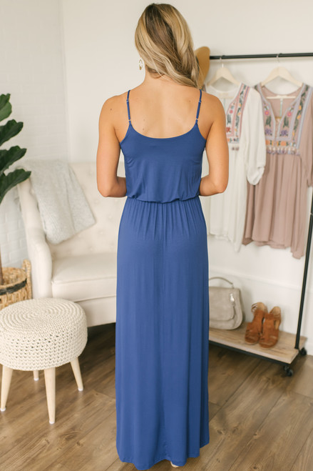 Dearly Beloved Knit Maxi - Blue- FINAL SALE