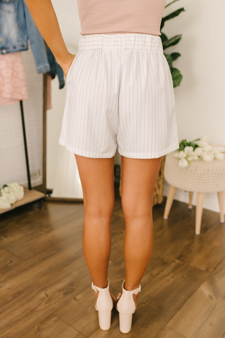Spyglass Hill Pinstripe Shorts - White/Black - FINAL SALE